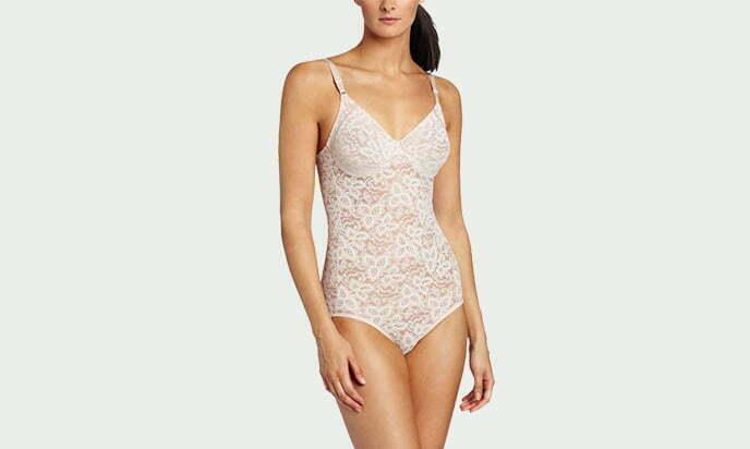 Bali Women's Shapewear Lace 'N Smooth Body Briefer - best tummy control shapewear