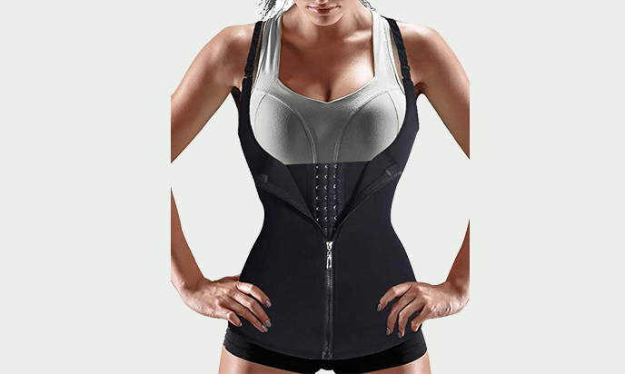 Women Waist Trainer Corset Zipper Vest Body Shaper Cincher
