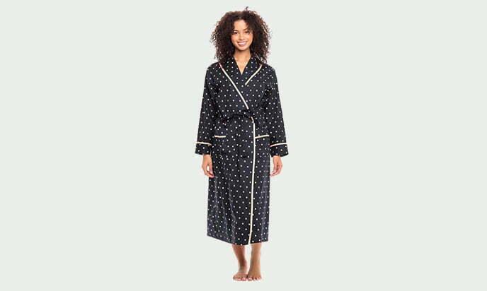 Alexander Del Rossa Women's Lightweight Cotton Kimono Robe