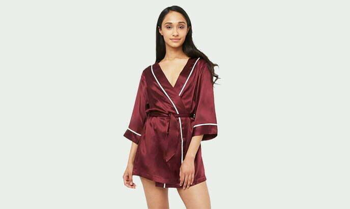 MYK 100% Mulberry Silk Luxury Kimono Robe, Dressing Gown for Women