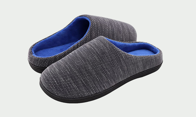RockDove Birdseye Knit Memory Foam Slipper