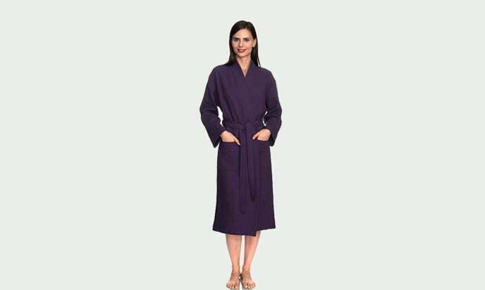 TowelSelections Women's Robe, Kimono Waffle Spa Bathrobe