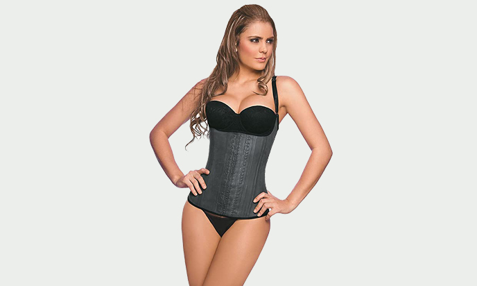 Ann Chery 2028 Semi-Vest Latex Waist Trainer Cincher Corset Faja Girdle