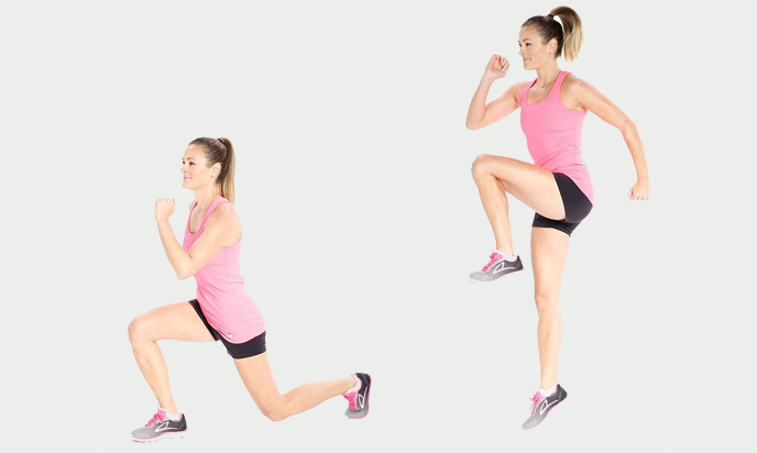 Lateral Lunge With Knee Drive