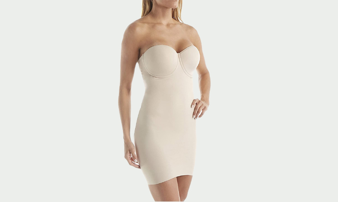 Miraclesuit Shapewear Women's Real Smooth Strapless Slip