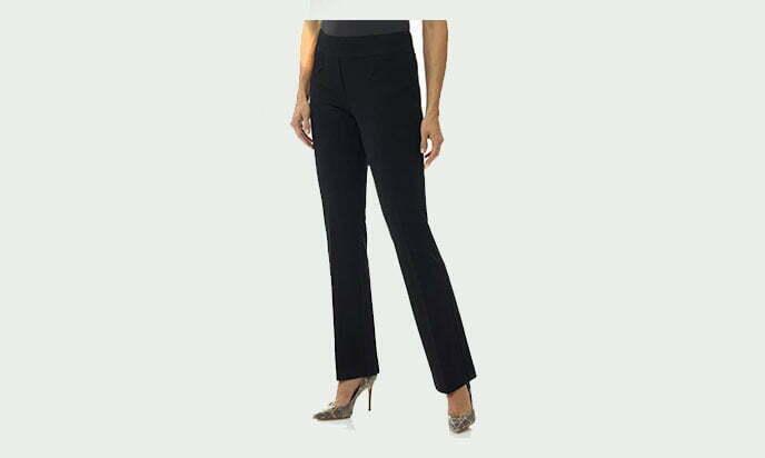 Rekucci Women's Secret Figure Pull-On Knit Bootcut Pant wTummy Control1