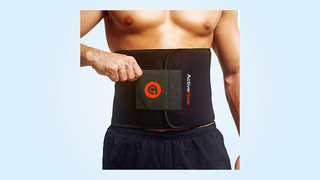 4.ActiveGear Waist Trimmer Belt Slim Body Sweat Wrap for Stomach and Back Lumbar Support